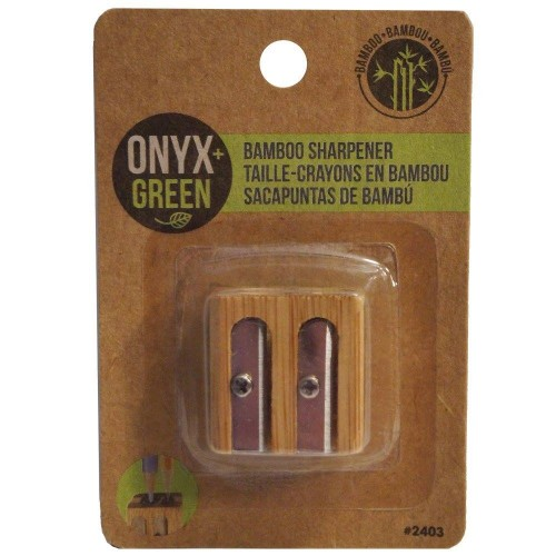 Onyx Green Bamboo Double Pencil Sharpener