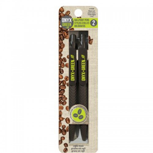 Onyx Green Recycled Coffee Pens Refillable x 2