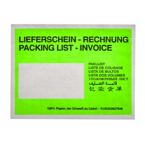 Paper Cellulose Document Enclosed Wallets A6 x 250