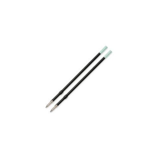Recycled B2P PET Bottles 1.0mm Black Ballpoint Refills x 12