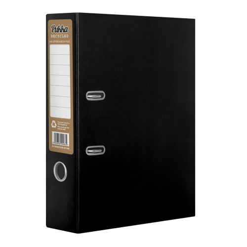 Black Pukka Recycled Lever Arch file A4