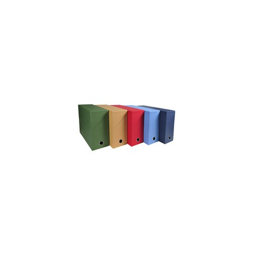 Recycled Canvas Box Transfer Files 120mm Spine - 5 assorted colours