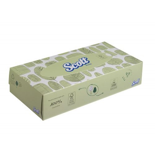 Scott Recycled Facial Tissues Box 100 sheets