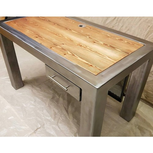 Recycled Steel and Wood Office Desk