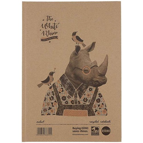 Save The Rhino A4 Casebound Lined Notebook