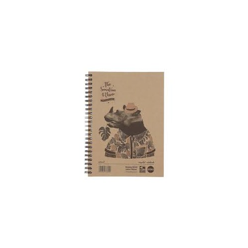 Save The Rhino A5 hard cover recycled twinwire notebook