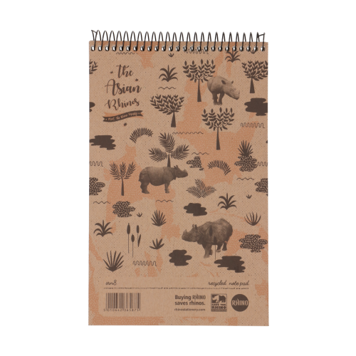 Save The Rhino Recycled Reporters Notebook pack 10