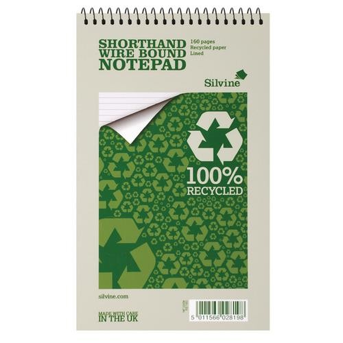 Silvine Recycled Shorthand Pad