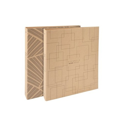 Slim Recycled Natural Card A4 Ring Binder x 10