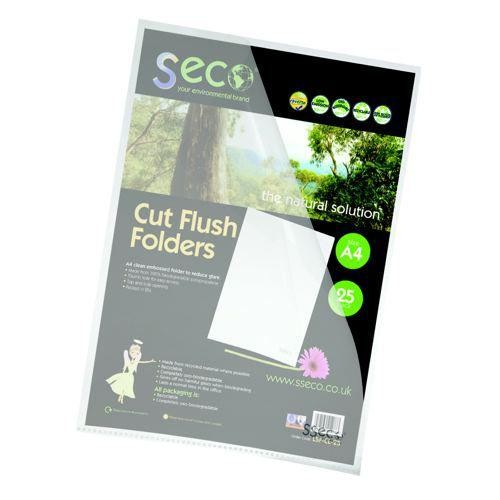 SS Eco Biodegradable Cut Flush Folders x 25