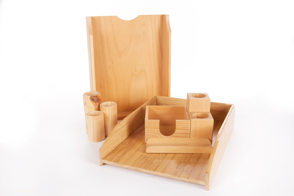 Wooden Plastic-Free Desk Accessories