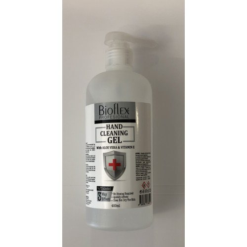 70% Alcohol hand sanitiser gel pump bottle 400ml