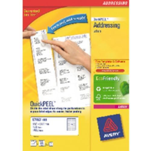 LABELS 21 PER  SHEET BOXED 100S  L7160  51625