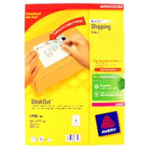 LABELS 8 PER  SHEET BOXED 100S  L7165  51627