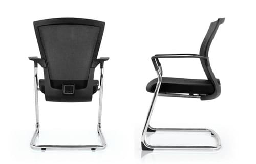 Cantilever meeting chair BY Bestuhl - Black