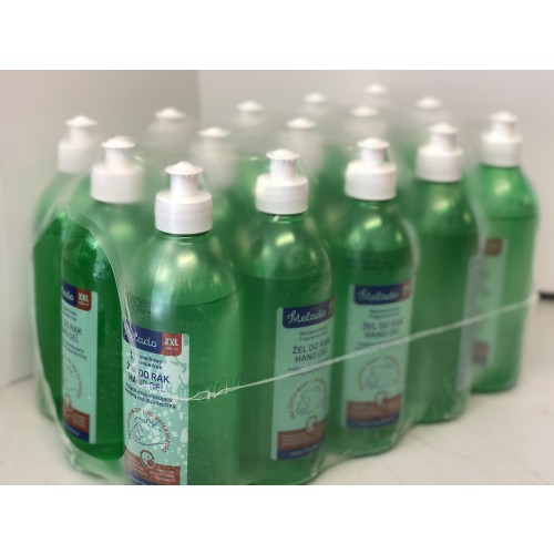 70% Alcohol Hand Sanitising Gel 500ml Pull Top Bottle (15 X 500ML) VALUE PACK. £9.25/Bottle