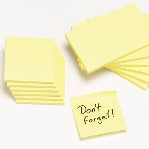 STICKY NOTES 76X127  3X5  YELLOW