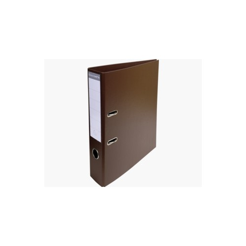 EXACOMPTA PREMTOUCH PVC LEVER ARCH FILE, 70MM SPINE, 2 RING, A4 - BROWN
