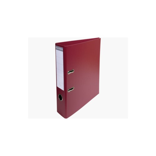 EXACOMPTA PREMTOUCH PVC LEVER ARCH FILE, 70MM SPINE, 2 RING, A4  - BURGUNDY