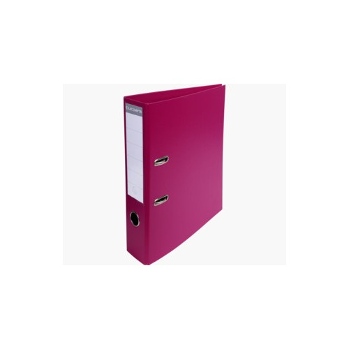 EXACOMPTA PREMTOUCH PVC LEVER ARCH FILE, 70MM SPINE, 2 RING, A4 - FUCHSIA