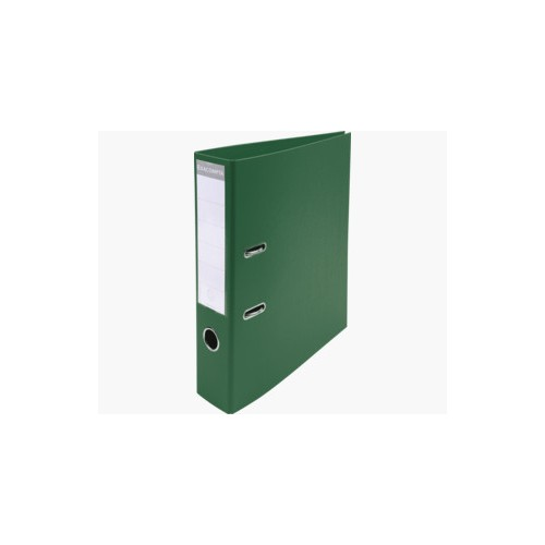 """EXACOMPTA PREMTOUCH PVC LEVER ARCH FILE, 70MM SPINE, 2 RING, A4 """"- DARK GREEN"""