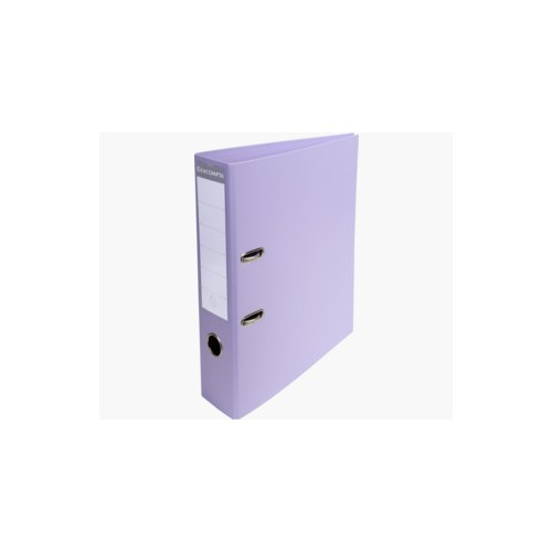 EXACOMPTA PREMTOUCH PVC LEVER ARCH FILE, 70MM SPINE, 2 RING, A4 - LILAC