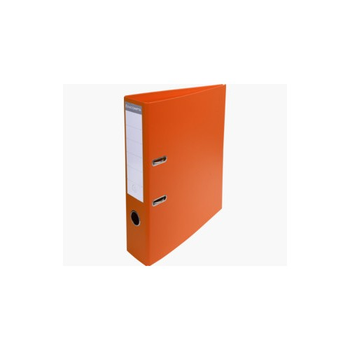 EXACOMPTA PREMTOUCH PVC LEVER ARCH FILE, 70MM SPINE, 2 RING, A4  - ORANGE