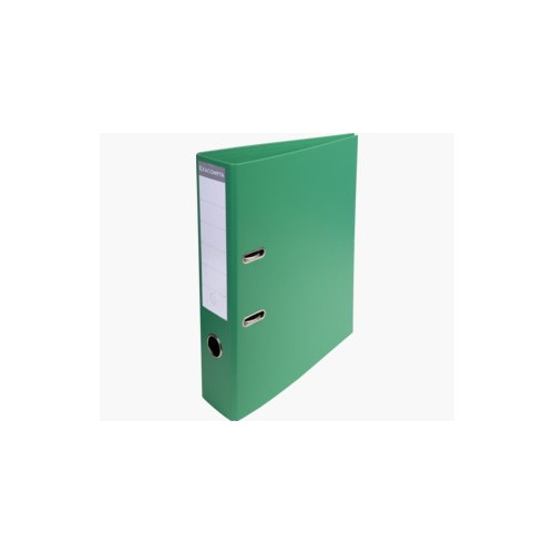 EXACOMPTA PREMTOUCH PVC LEVER ARCH FILE, 70MM SPINE, 2 RING, A4 - GREEN