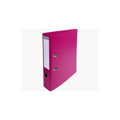 EXACOMPTA PREMTOUCH PVC LEVER ARCH FILE, 70MM SPINE, 2 RING, A4 - RASPBERRY