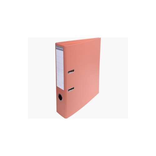 EXACOMPTA PREMTOUCH PVC LEVER ARCH FILE, 70MM SPINE, 2 RING, A4  - SALMON