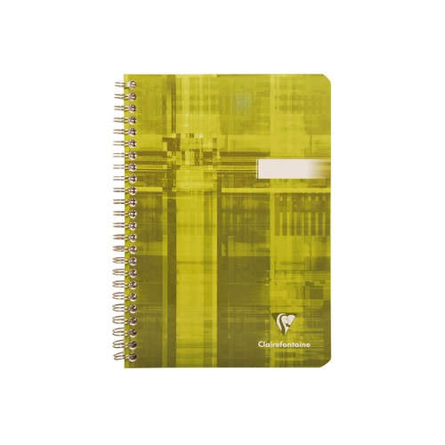Wirebound notebook 14,8x21cm 90sh. Sq. 5x5 A5 Yellow