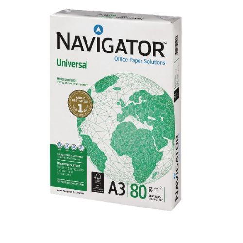 Navigator Universal A3 Paper 80gsm White (Pack of 2500) NAVA380