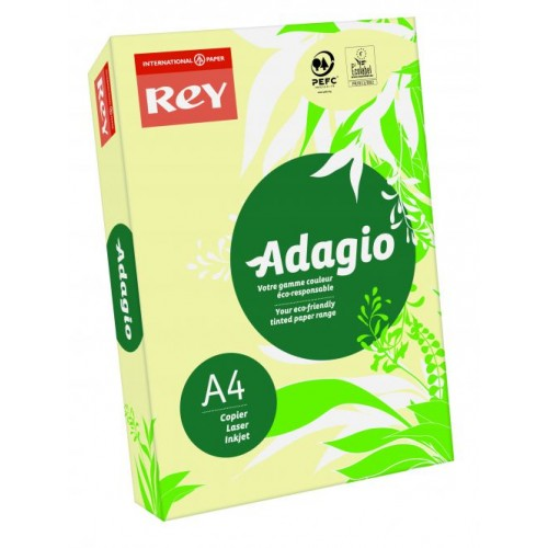Adagio Pastel Canary A4 Coloured Card 160gsm (Pack of 250)