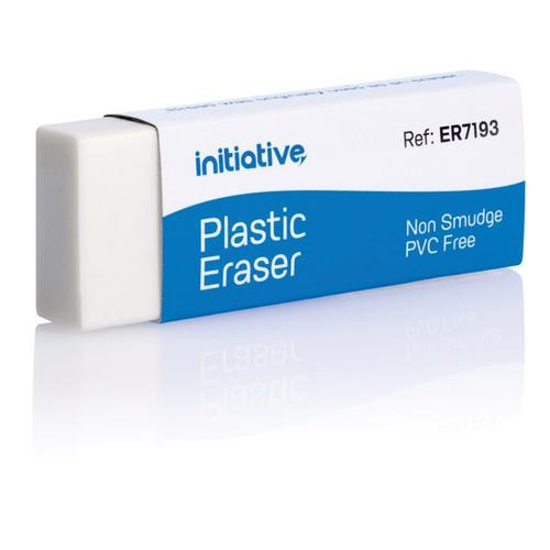 Initiative Non Smudge Plastic Eraser Sleeved pack 1