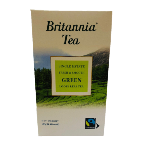 Britannia Tea Green Loose Leaf Tea Boxed 125g