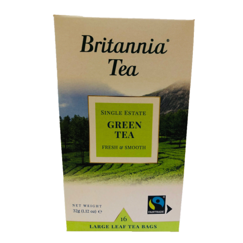 Britannia Green Tea 16 Large Leaf Tea Bags 32g