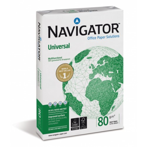 Navigator Universal A4 Paper 80gsm White (Pack of 500) NAVA480S