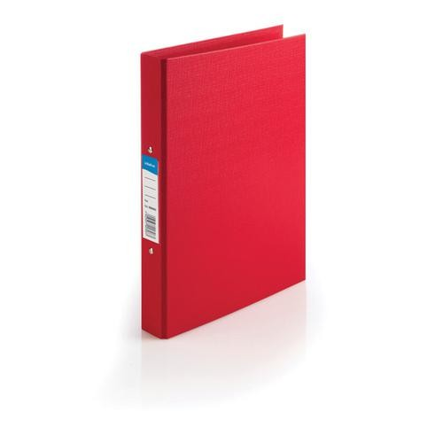 Initiative Polypropylene Coated Board 2 Ring Binder 25mm Capacity A4 Red single