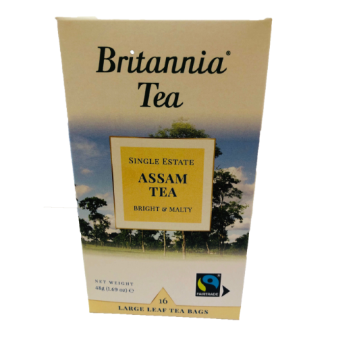 Britannia Tea Assam Tea 16 Large leaf Tea Bags, boxed 48g