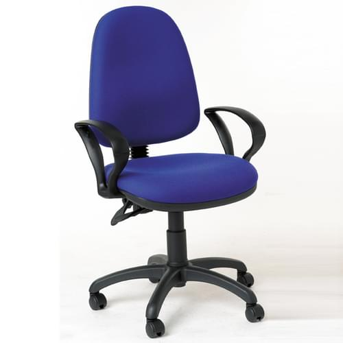 High Back Operator's Armchair, Blue