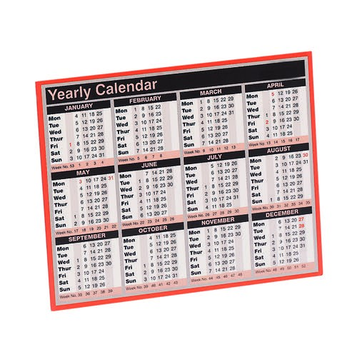 Calendars - available month to view or year to view