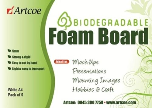 Bio-degradable White Foamboard 5ml A1 (10 sheets)