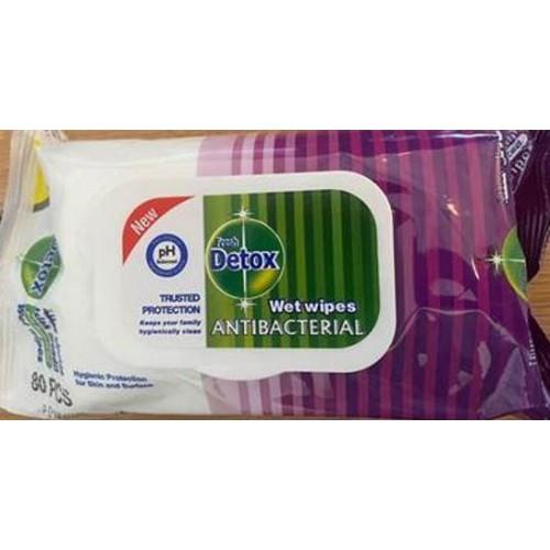 Detox Anti Bacterial Wipes Pine Pk120