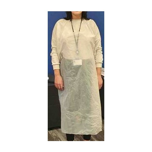NHS Specification Disposable Aprons - white