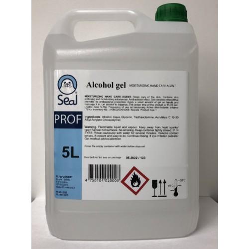 Hand Sanitiser Gel 70% Ethanol 5 litre pump refill bottle