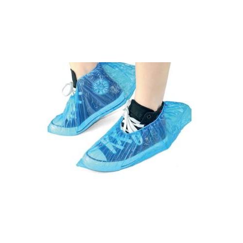 Polythene Shoe Covers - Blue