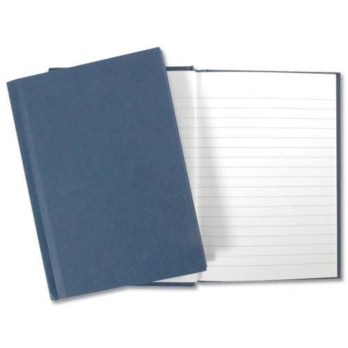 5 Star Office Manuscript Notebook Casebound 70gsm Ruled 192pp A4 Blue[Pack 5]