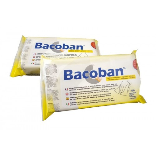 Bacoban Disinfectant Wipes - Pack of 50