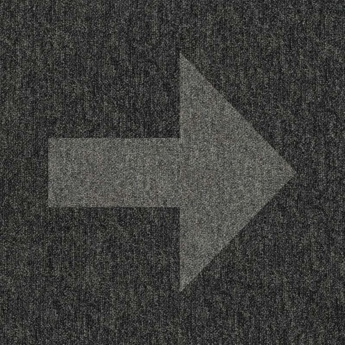Grey arrow on Black floor tile