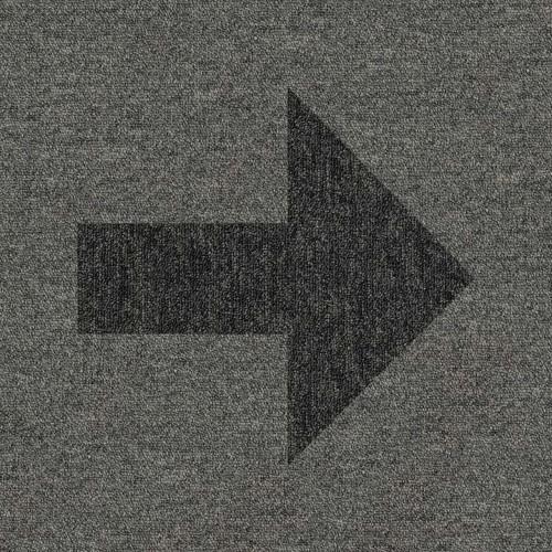 Black arrow on Grey tile